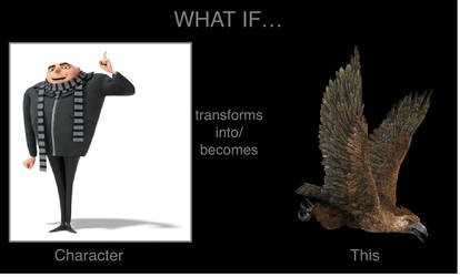 What if Gru transforms into Haast's eagle? by mblairll