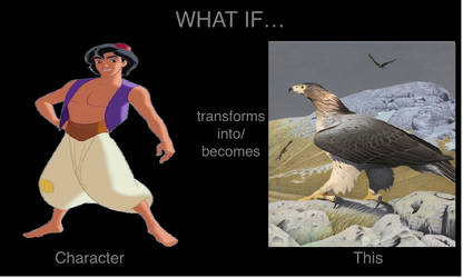 What if Aladdin tranforms into Haast's eagle? by mblairll