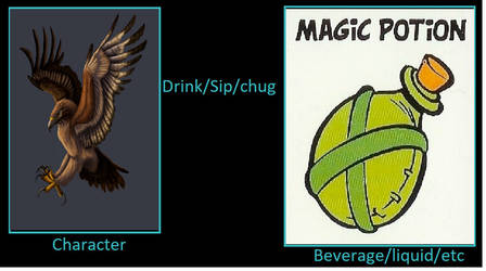 Haast's eagle drinks magic potion from Asterix by mblairll