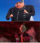 Gru vs King Candy in his cy-bug form