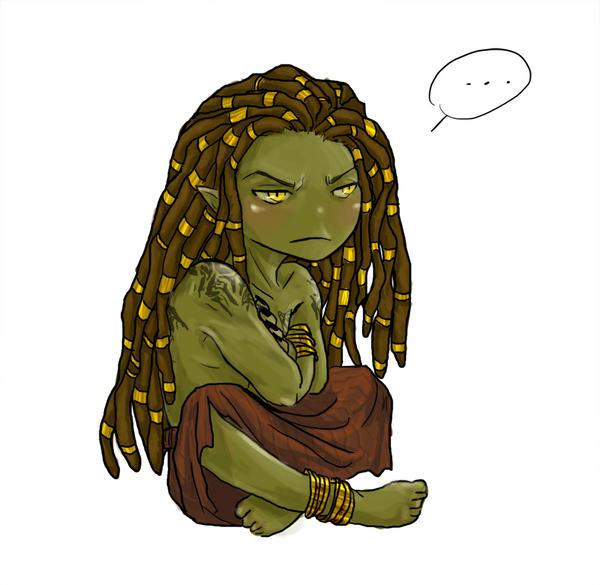 Grumpy frog by A6A7