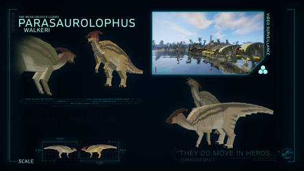 SPECIES PROFILE // Parasaurolophus by JurassiCraftMod