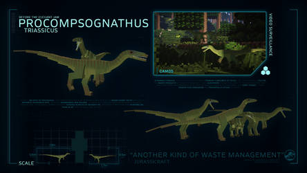 SPECIES PROFILE // Procompsognathus by JurassiCraftMod