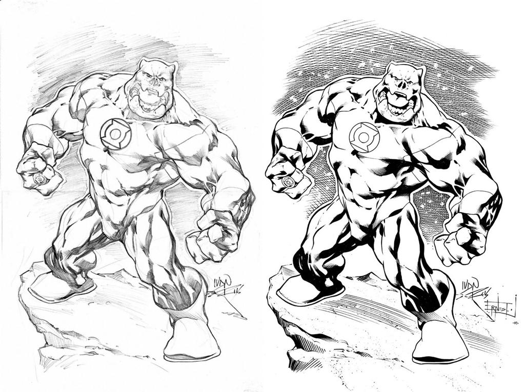 Kilowog Drawing