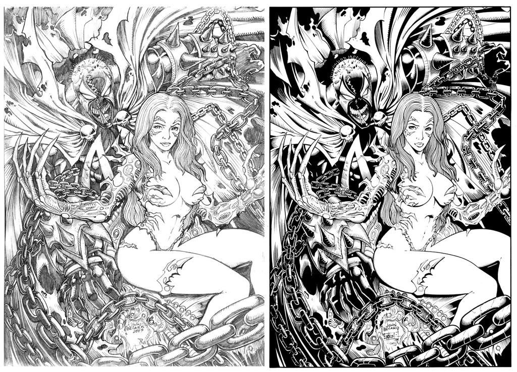 Spawn and Witchblade by ernestj23