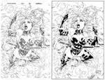 Psylocke Splash Page Ink