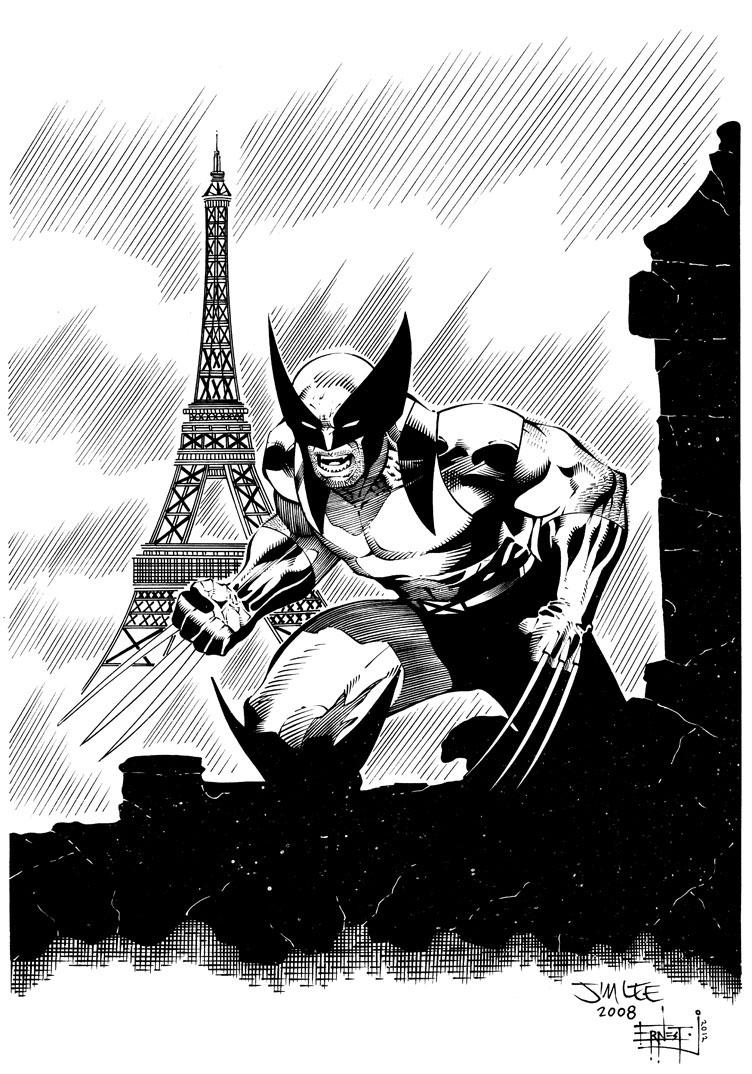Wolverine in Paris (Ink Commission)