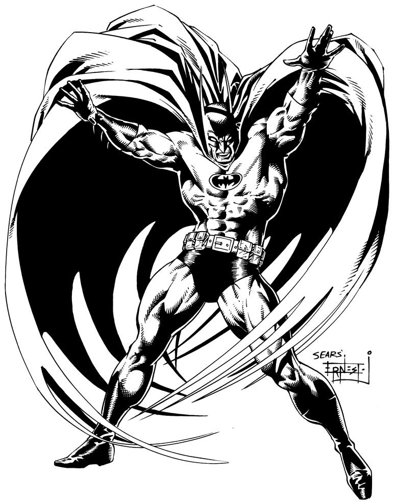 Batman Ink Sample (Bart Sears) by ernestj23