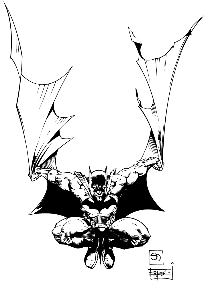 Batman Ink Sample (Shane Davis) by ernestj23