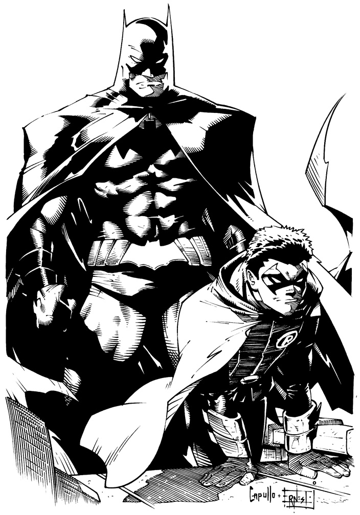Batman Ink Sample (Greg Capullo) by ernestj23