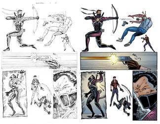 Black Arrow #4 Page 11 COLORS by ernestj23