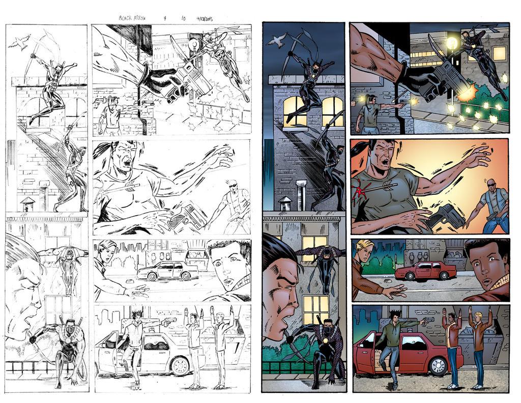 Black Arrow #4 Page 10 COLORS