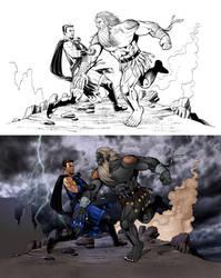 BLUE TERROR vs. BLACK MANX