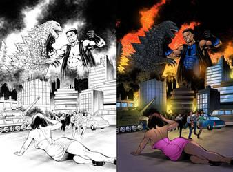 Blue Terror vs. Godzilla