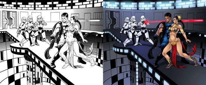 Blue Terror vs. Female Stormtrooper