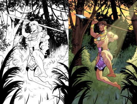 Aztec Warrior Coloring 1