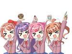 Hungry Sayori,Yuri,Natsuki and Monika