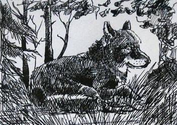 KaKAO 74 Inktober Wolf by Elhanna