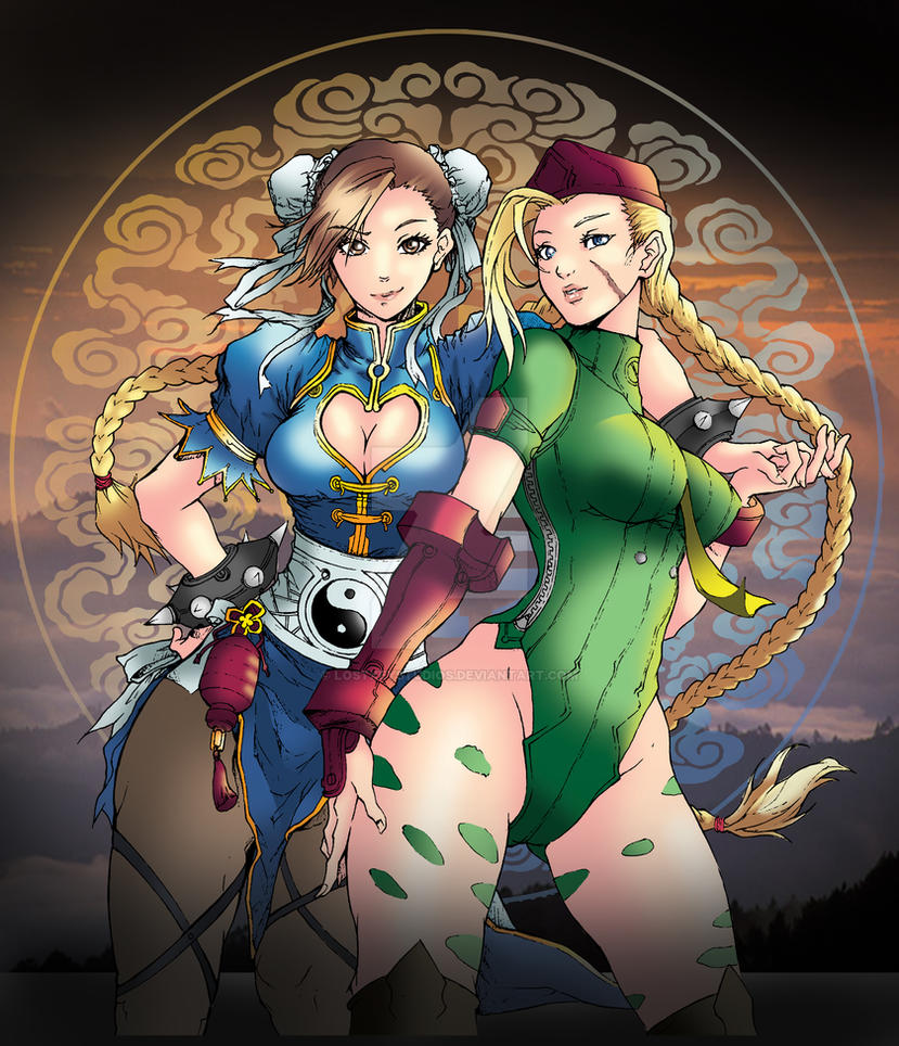Cammy and Chun Li by LostKeyStudios