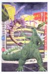 Godzilla watercolor