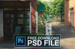 FREE PSD file - Afternoon at a Cafe