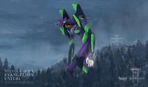 Eva Unit 01 -  I Mustn't Run Away! +PSD