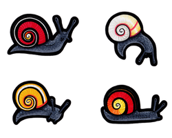 Painted Snail (Polymita picta) by hyaenija