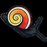 Cuban Painted Snail (Polymita picta) by hyaenija