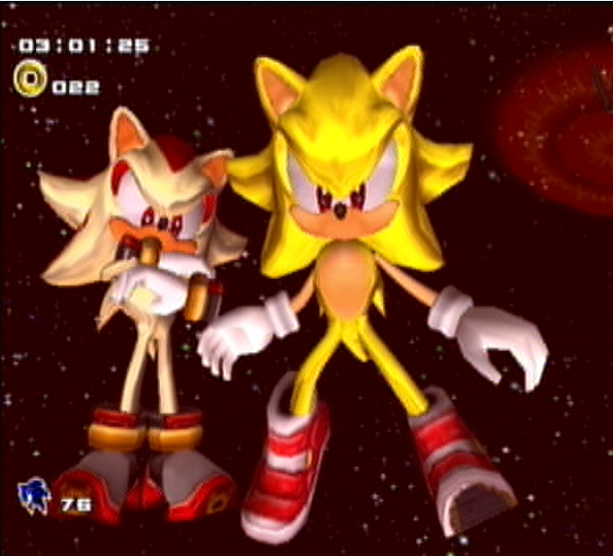 Super Sonic And Super Shadow By GamingMasterErnest On