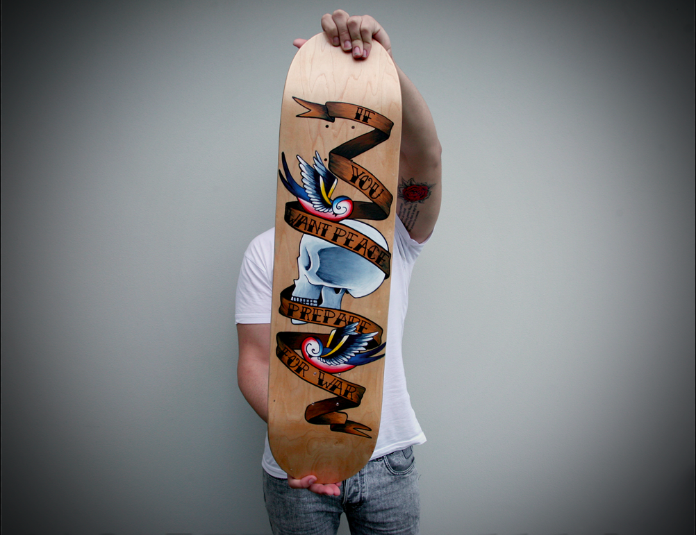 Tattoo Art Skateboard Deck By GeeeO On DeviantArt