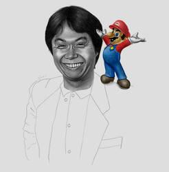 Shigeru Miyamoto by GeeeO