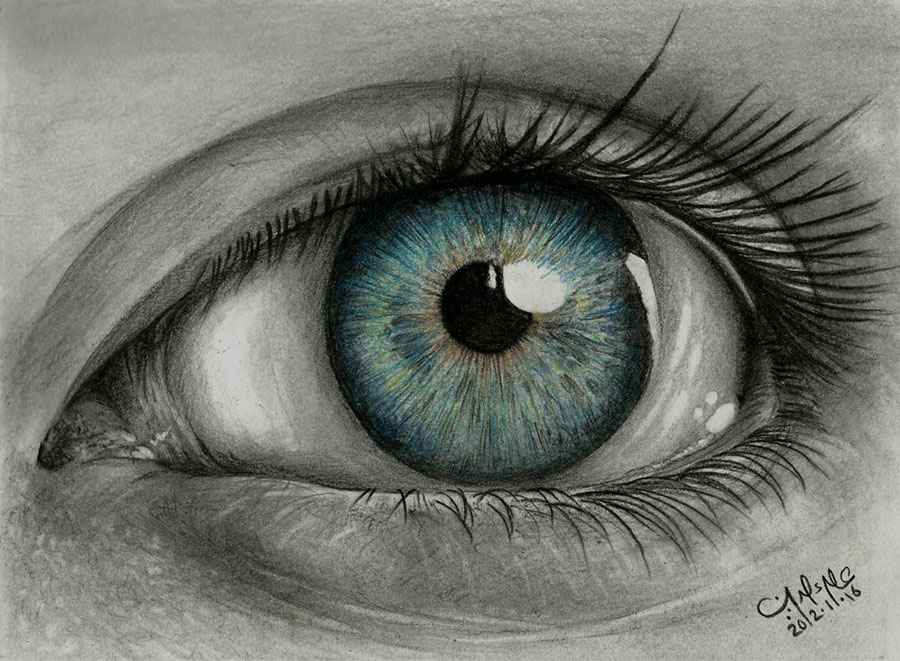 Drawing eye by alaadin