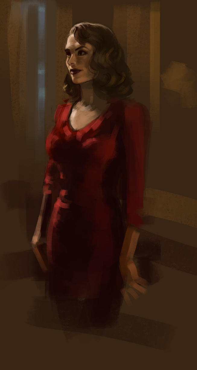 Woman In Red by alenara80