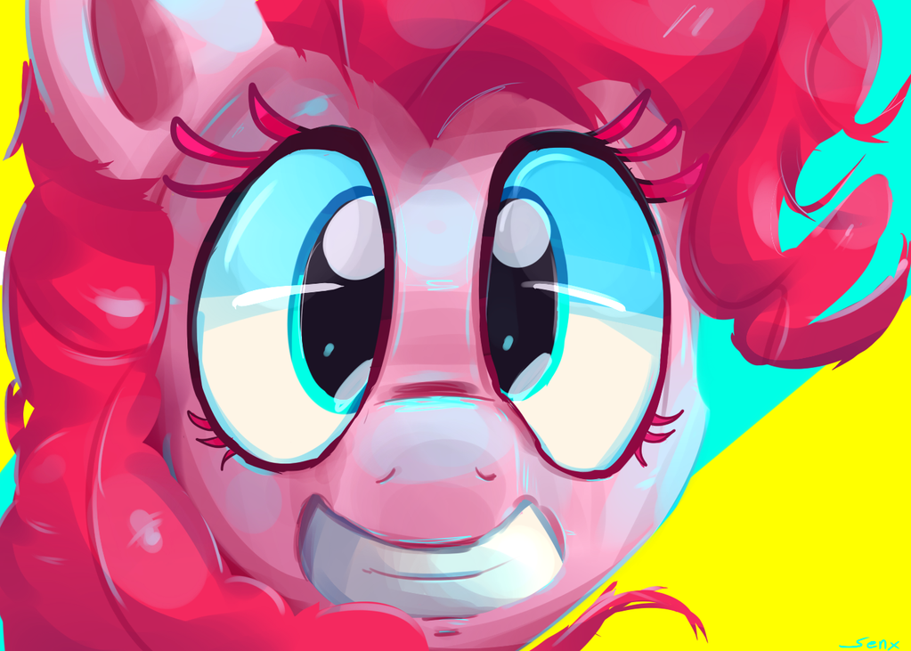 Happy Pinkie by SenxShine