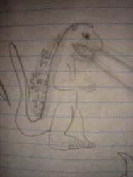 Cartoonish Godzilla