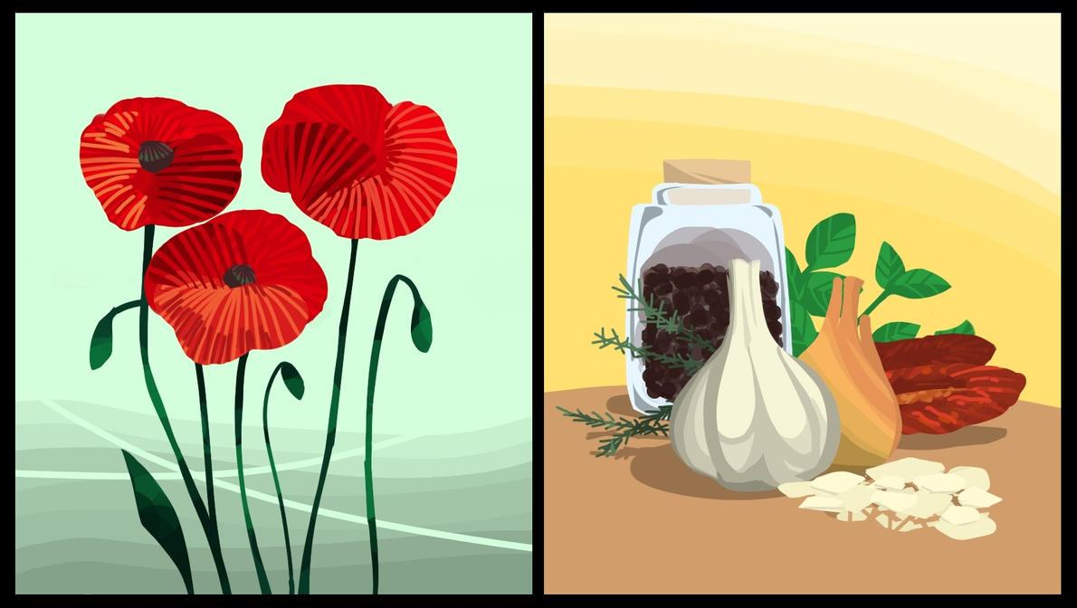 Poppy and Garlic by KaburagiKotetsu