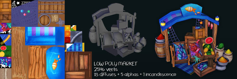 Low poly Market