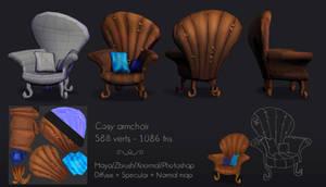 Cosy armchair 3d by Elo-Doudoune