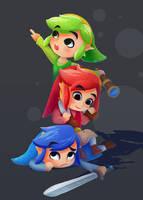 Three heroes by Elo-Doudoune