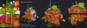 3D Autumn tea time by Elo-Doudoune