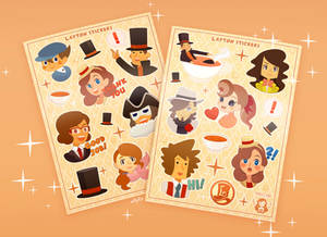 Layton series stickers