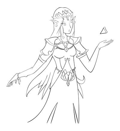 Zelda Vector Black and White by PossibleBit