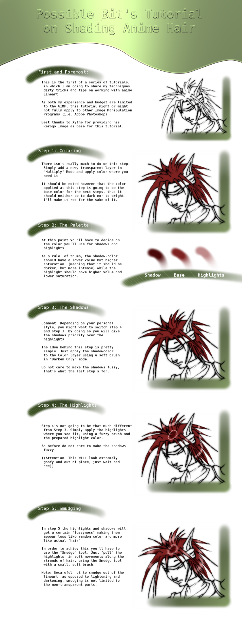 Anime-Hair Shading Tutorial by PossibleBit on DeviantArt