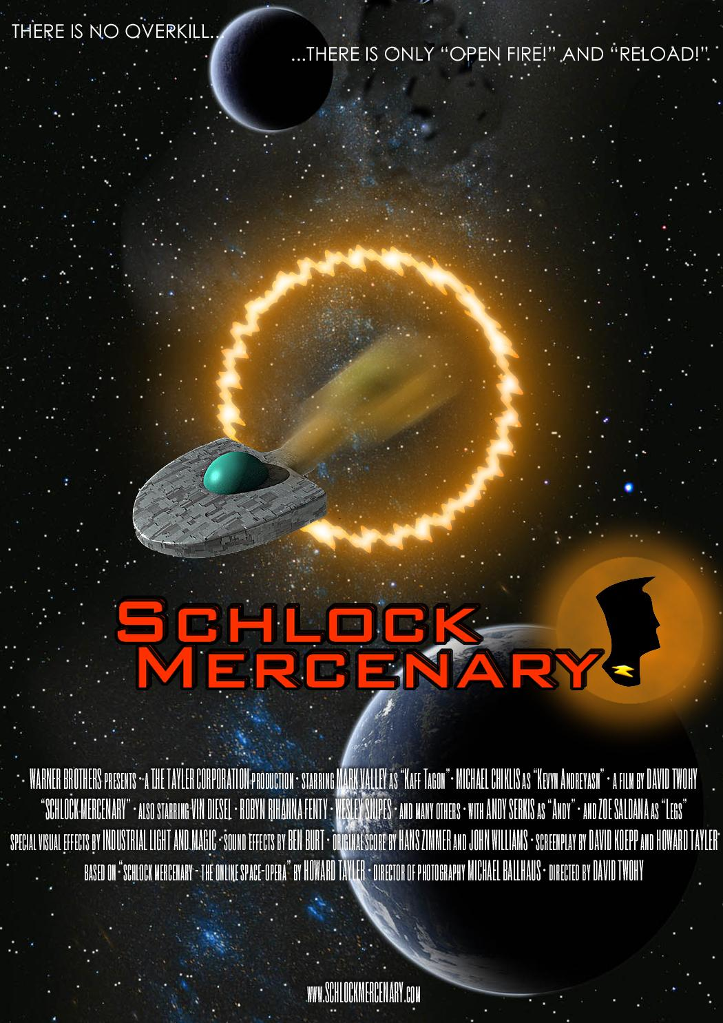 Schlock Mercenary Real Film Movie Poster (fake) by Lexxyzgraphix