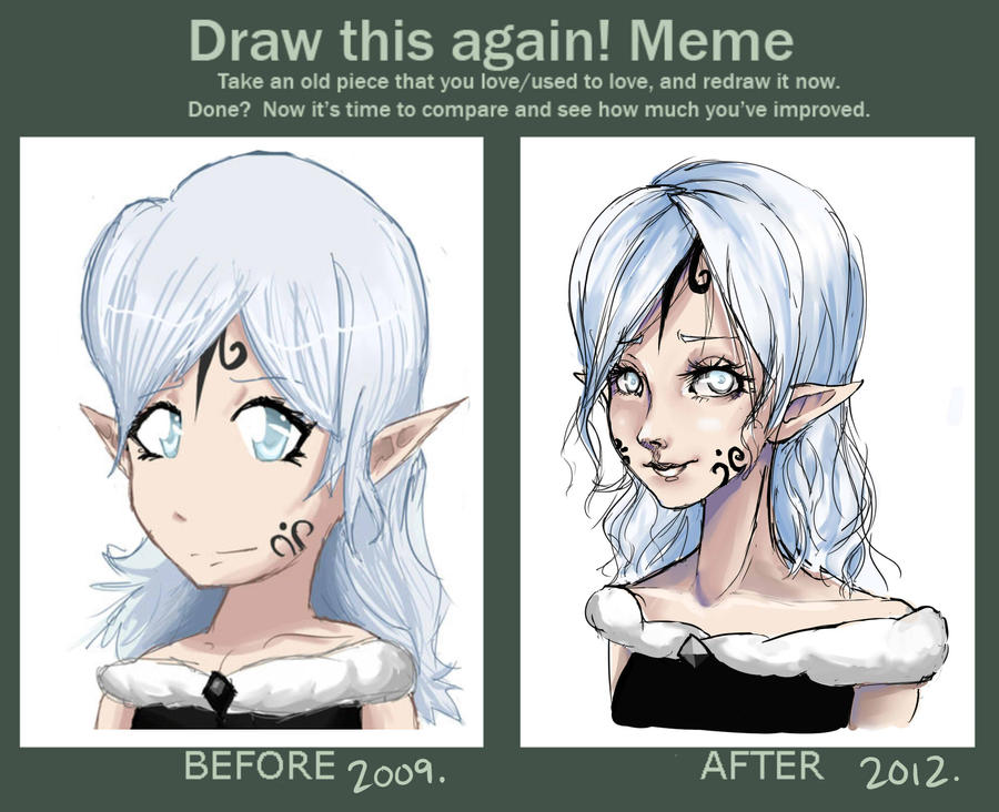 Draw this again meme 4 by cayys on deviantart for Draw this again meme template