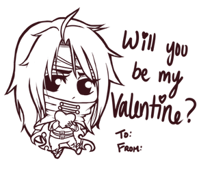 Vincent Valentine Valentine's Day Card by SailorSquall