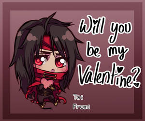 Valentines Day Card - Vincent Valentine by SailorSquall