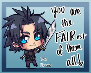 Valentines Day Card - Zack Fair by SailorSquall