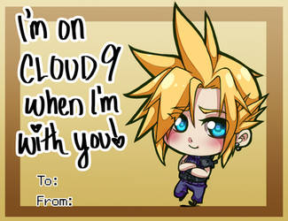 Valentines Day Card - Cloud Strife by SailorSquall