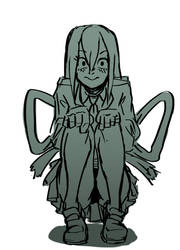 Tsuyu Asui doodle by SailorSquall